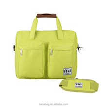 China New Stylish Customized Apple Green Fancy Female Laptop Bags Business Leisure Computer Bag Custom Logo
