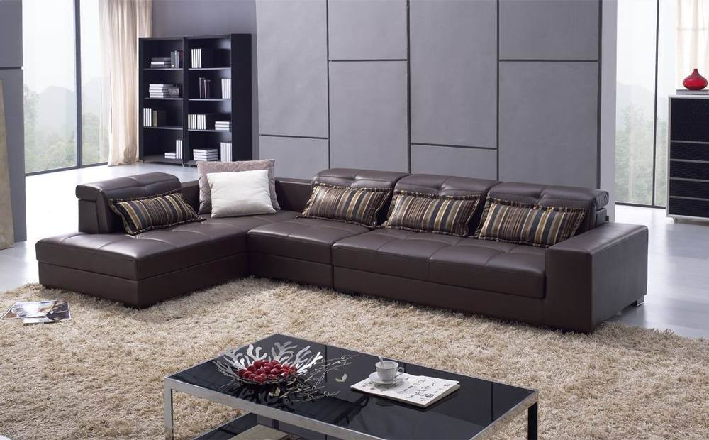 Italian white genuine leather sofa buy leather sofa for Sofa set designs for hall