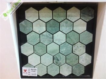 Groene Mozaiek Tegels : Hs m3314 leverancier uniek dikte 10mm mozaïektegels groene jade