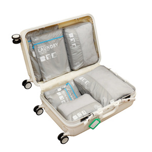 Wholesale Travel Amazon Hot Selling Travel Compression Packing Cubes, 7pcs Travel Organiser