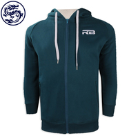 2018 High Quality Custom Made Fleece Zipper Hoodie
