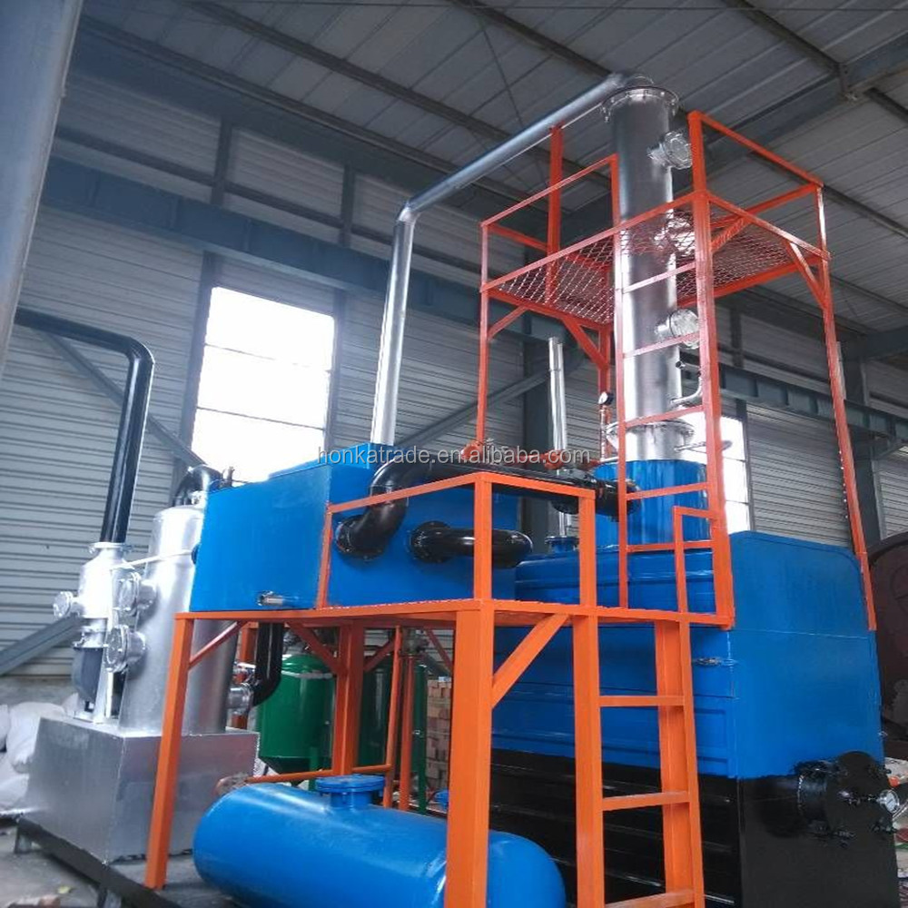1-2Tons/day Small distillation plant for Black fuel oil refinery to diesel