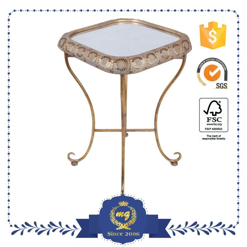 Oem Service Attractive Antique Wrought Iron Coffee Table