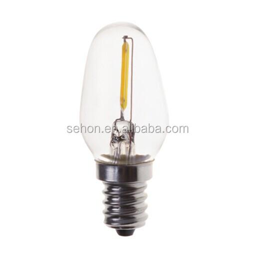E12 12v Led Christmas C7 0.5w Led Filament Bulb