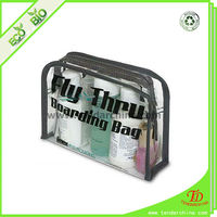 Clear PVC Bag For Small Cosmetic Bag With Zipper
