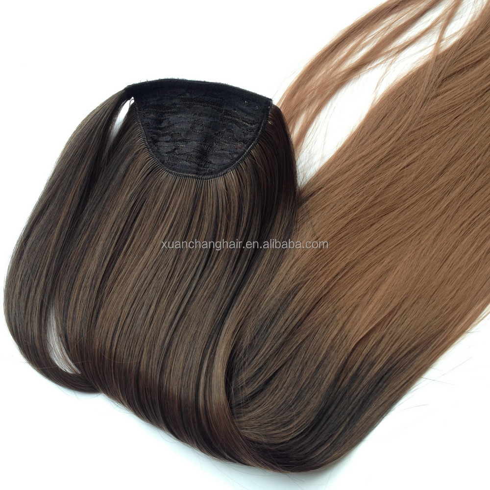 synthetic Ponytail hair extensions hairpiece ponytail hair wholesale