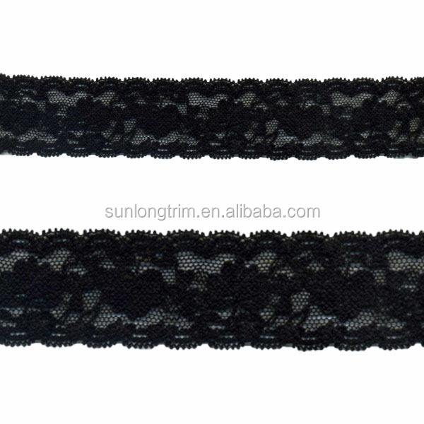 3.5cm wide stretch garter lace, stretch lace elastic for headband