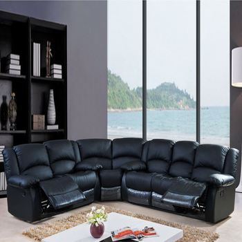Luxury Design Ger Seating With Chaise Syran Home Theater Sofa Set