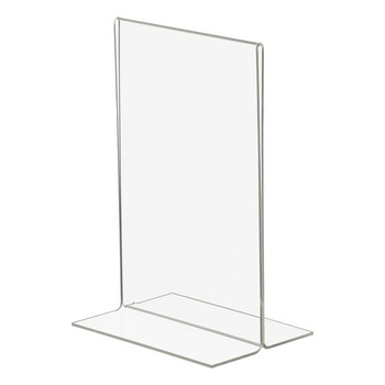 Acrylic Plexi Sign Holder Clear Frames 8.5 X 11 Table Sign Stand ...