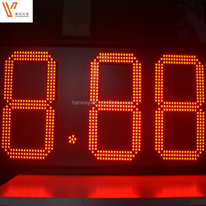 10/12/16inch 88:88C/F Red outdoor led time temperature display