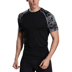Men Short Sleeve Shirt Camouflage Sportswear MA62