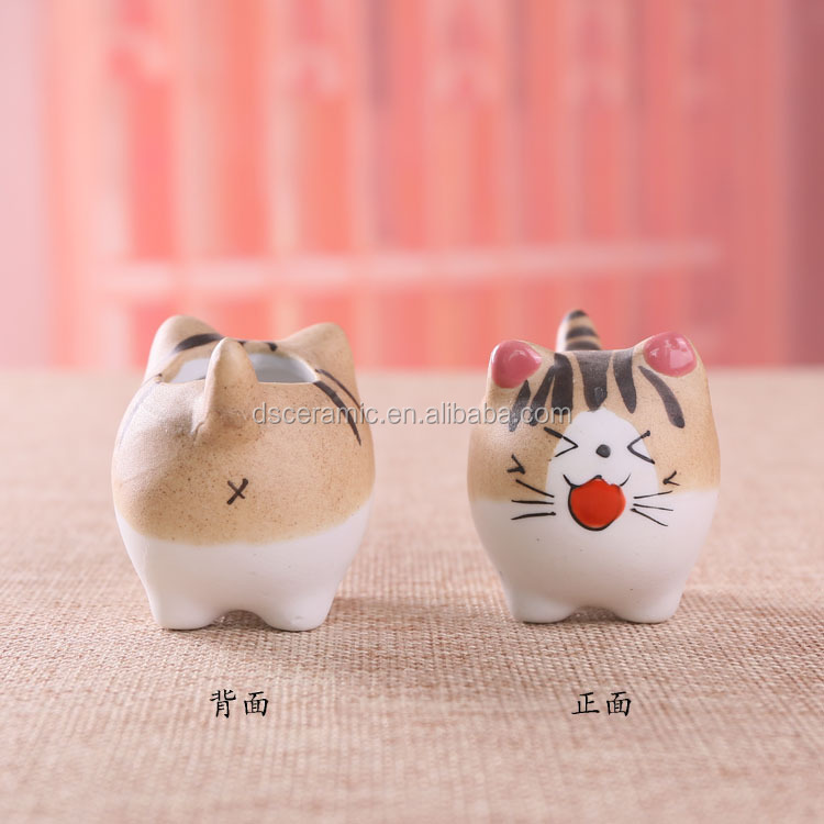 cat animal shape flower plant pot planters containers for cactus