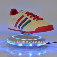 2014 new advertising product magnetic levitron display rack, magnetic levitation shoes display rack