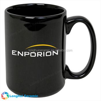 No minimum 1015 El Grande 15ounce glossy custom ceramic black coffee