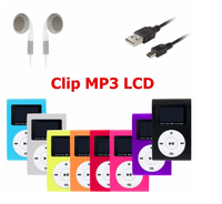 Mini Clip MP3 player with LCD screen,Promotion gift MP3 Player Music player