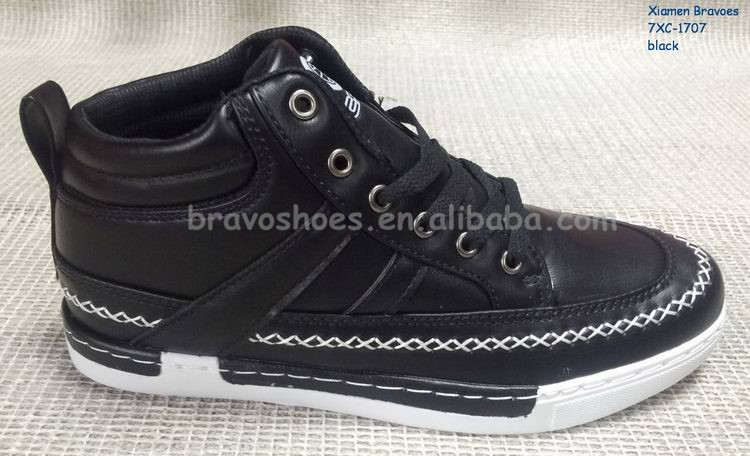 Pu Upper And Firm Outsole Stitching Custom Hightop Mens Sneakers 2017