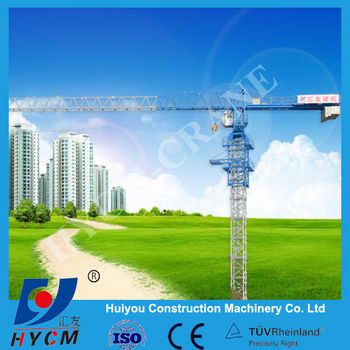 Fixed model, out-climbing Crane 4T Top-Flat Tower Cranes