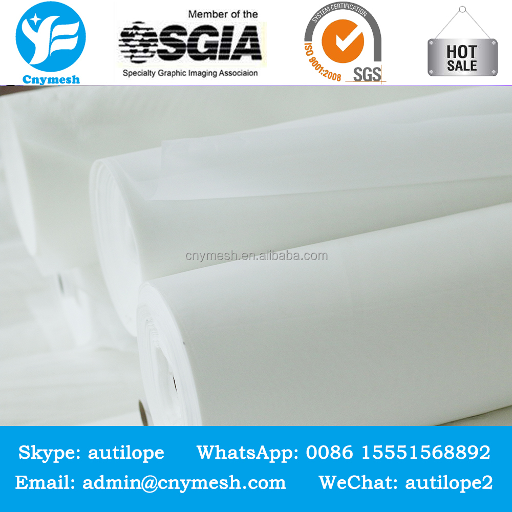 polyester high elasticity silk screen printing mesh 100 micron filter cloth