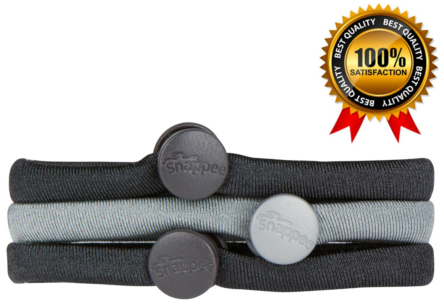 Premium No Crease Snap-Off Hair Ties By Snappee METALLIC SILVER - Easy  Ouchless Removal 1ced68b3c00