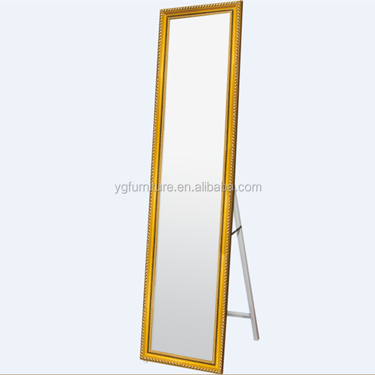Wholesale large floor standing full length mirror with for Gold frame floor mirror