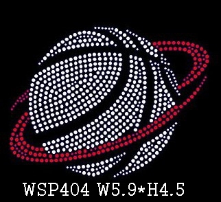 Latest Clear Basketball Sports Heat Rhinestone Template Transfers For T Shirt