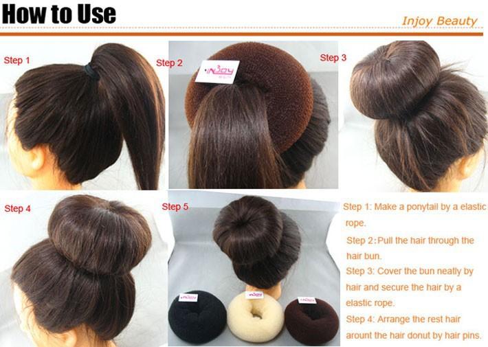 how to use a hair bun donut - photo #11