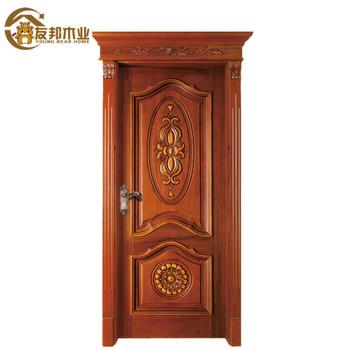 Latest Oem Egypt Beautiful House Living Room Design Indian Front Single Wood Door