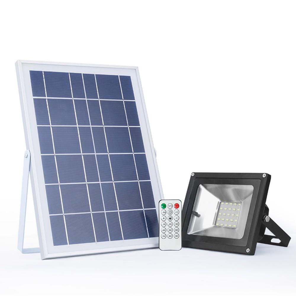 Ip65 Solar Powered Street Remote Control Security Lighting Yard Garden Pathway Basketball Court 25W Led Flood Light