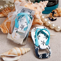 Flip Flop Bottle Openers With Starfish Accents