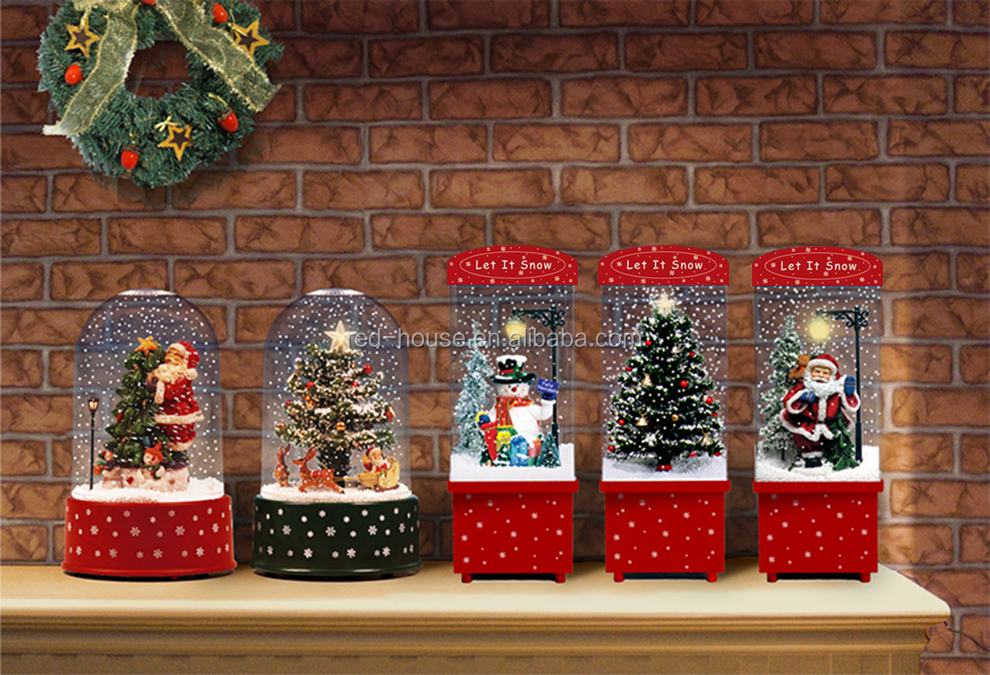 Polyresin Weihnachten Schnee Ballsnowing Szene Weihnachtsmann ...