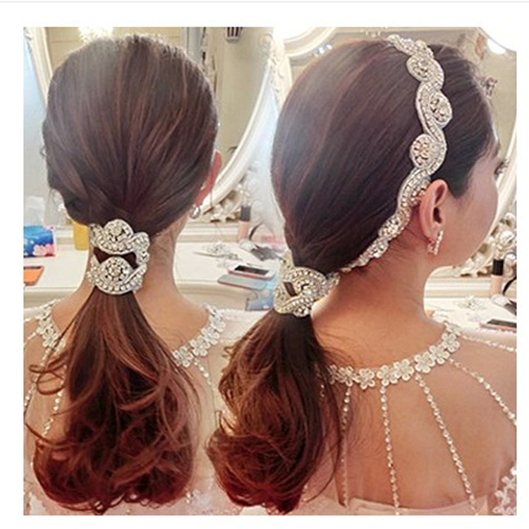 good selling hair accessary high quality handmade fashion bridal pearl wedding hairband SG019