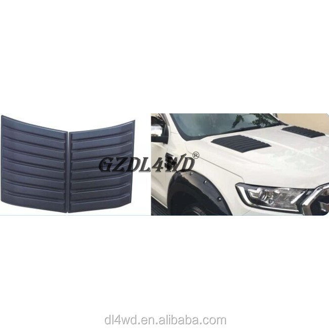 Auto Bonnet Hood Vent Scoop Air Bonnet Vent Cover Voor Ranger T6 T7 2012-2017