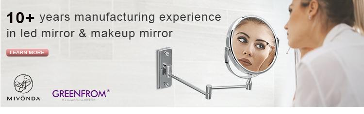 ขายส่งออกแบบใหม่ Led ห้องน้ำปรับ Mens Lighted โกนหนวดแว่นขยายแต่งหน้าติดผนัง 5x 7x 10x กระจก