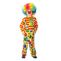 Good quality christmas kids clown costume