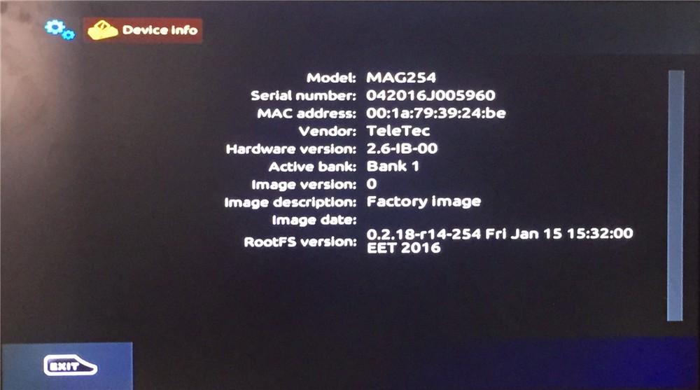 Linux 2 6 23 MAG 254 IPTV Set Top Box like MAG 260 set top box