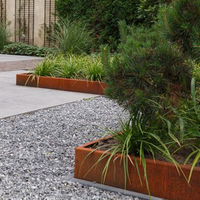 Landscape Corten Steel Lawn Edging Garden Bed Grass Border