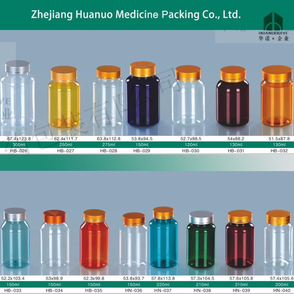 PET round health care 150ml wholesale vitamin plastic bottles for medical use
