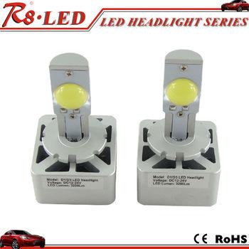 d1d3 6400lmset brightest led headlight conversion kit led light bulb