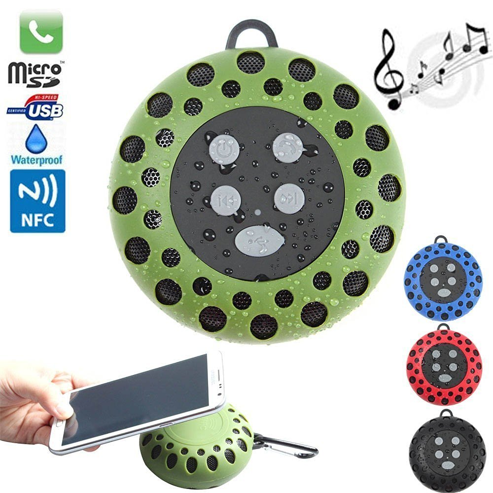 F.Dorla Honeycomb BTS25 NFC Portable Outdoor Sports Wireless Bluetooth Speaker IPX4 Waterproof,Stero Audio, Enhanced Bass,Bulit-in Microphone Hands-free,6Hrs Playback Time for iPhone iPad Samsung Nokia Smartphones, Tablets, Laptops, and Many More (Green)