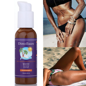 Alibaba Wholesaler 100ML Organic Natural Glow Sunless Self Tanner Tanning Lotion For Body