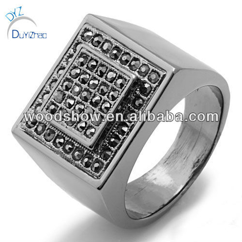 Alloy square mens rings
