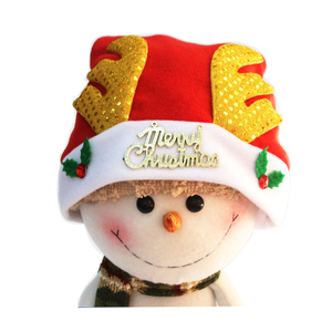 New Design Christmas Santa Hat Decoration with Antlers