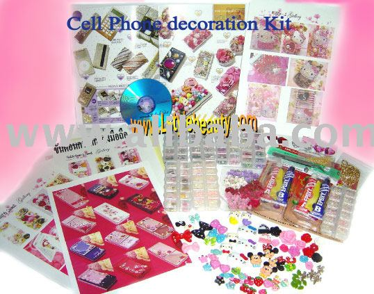 Cell phone decoration kit + VCD training