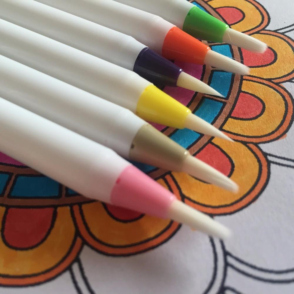 Ohuhu 20 Colores Acuarela Pinceles Marcadores W/un Agua Para ...