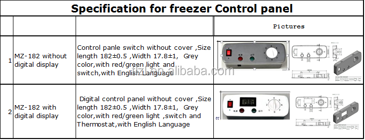 Control Panel Parts Of Electrical New Coming Freezer Kitchen Refrigerator