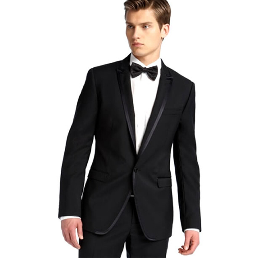 2015 Custom Men Suits Elegant Black Wedding Suits For Men Bespoke Mens Fit  Suits Bestmans Suits f55330e29854