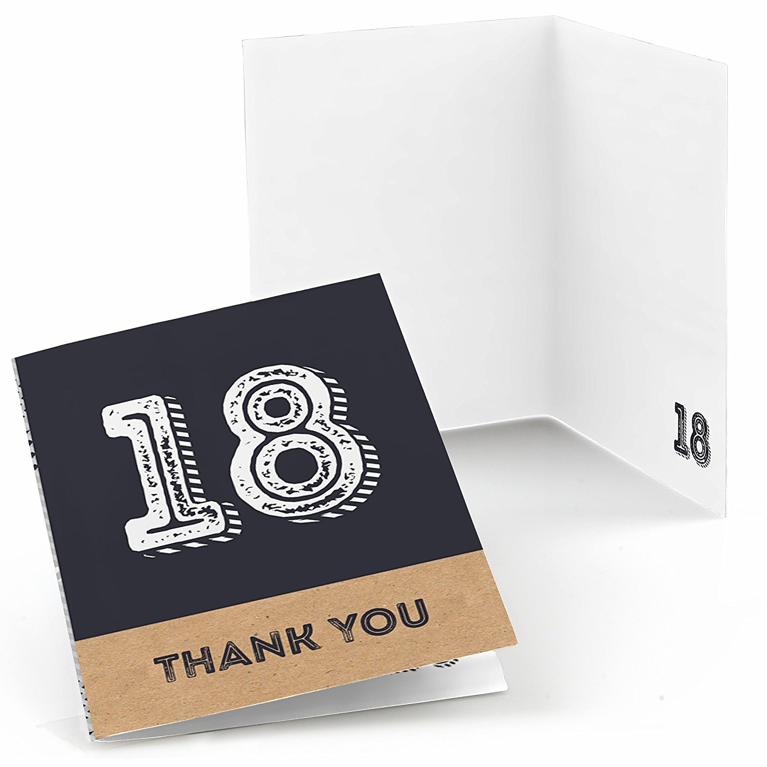 Cheap adult birthday cards find adult birthday cards deals on line get quotations 18th milestone birthday time to adult birthday party thank you cards 8 count kristyandbryce Image collections