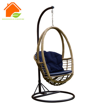 Metal Hanging Chair Stand Wicker Hanging Chair Crescent Stand