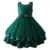 New stylish evening green gown party dress for 3-5 year old girl party dresses for teenage girls