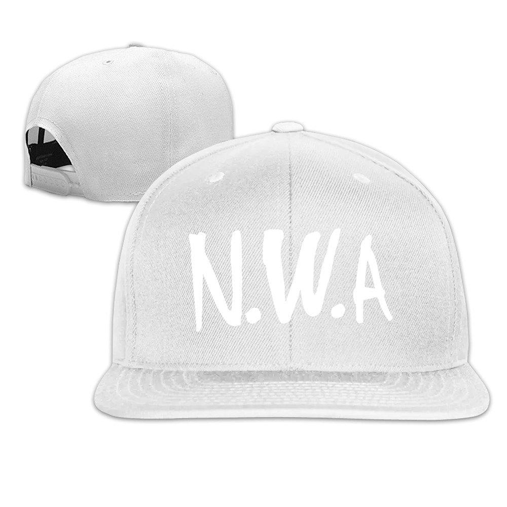HmkoLo Straight Outta Compton N.W.A Cotton Flat Bill Baseball Cap Snapback  Hat Unisex 6f27f776ba97
